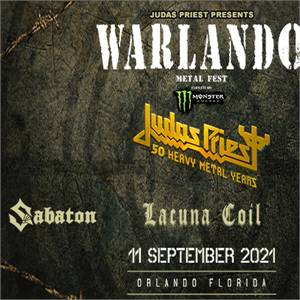 JUDAS PRIEST PRESENTS WARLANDO FEST in Orlando, FL, USA on Sat, 11 Sep 2021